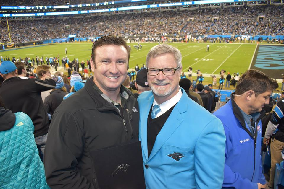 NC Green Beret battling Cancer Recognized at the Panthers Game