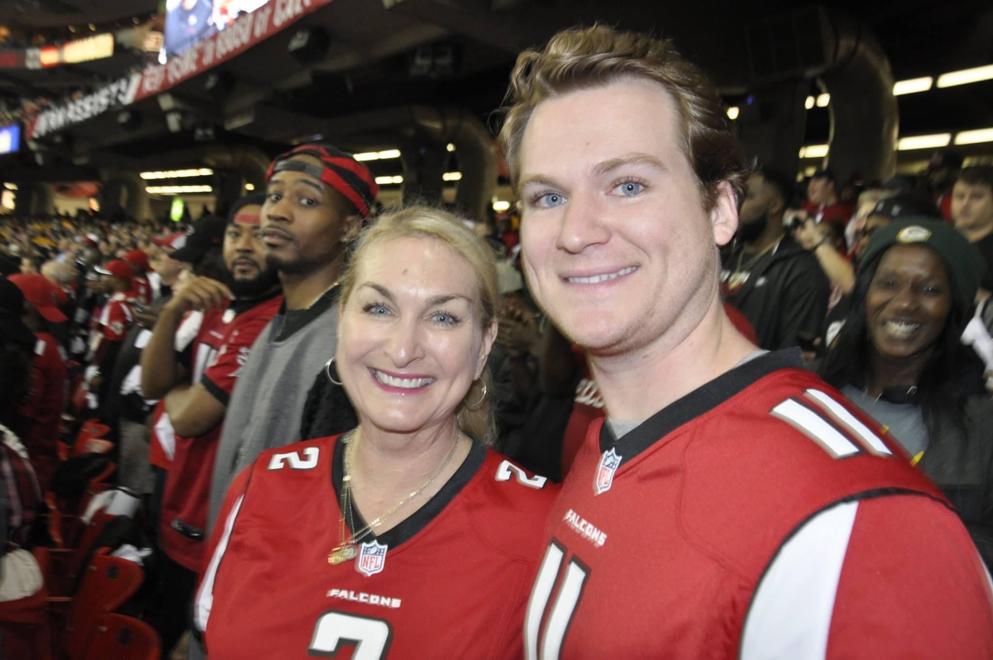 Patty Watkins - 2017 Super Bowl Challenge Check Presentation - Emory Winship Cancer Institute