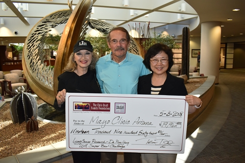 Linda & Jerry Wortman Presented Check to Mayo Clinic Rochester and Phoenix