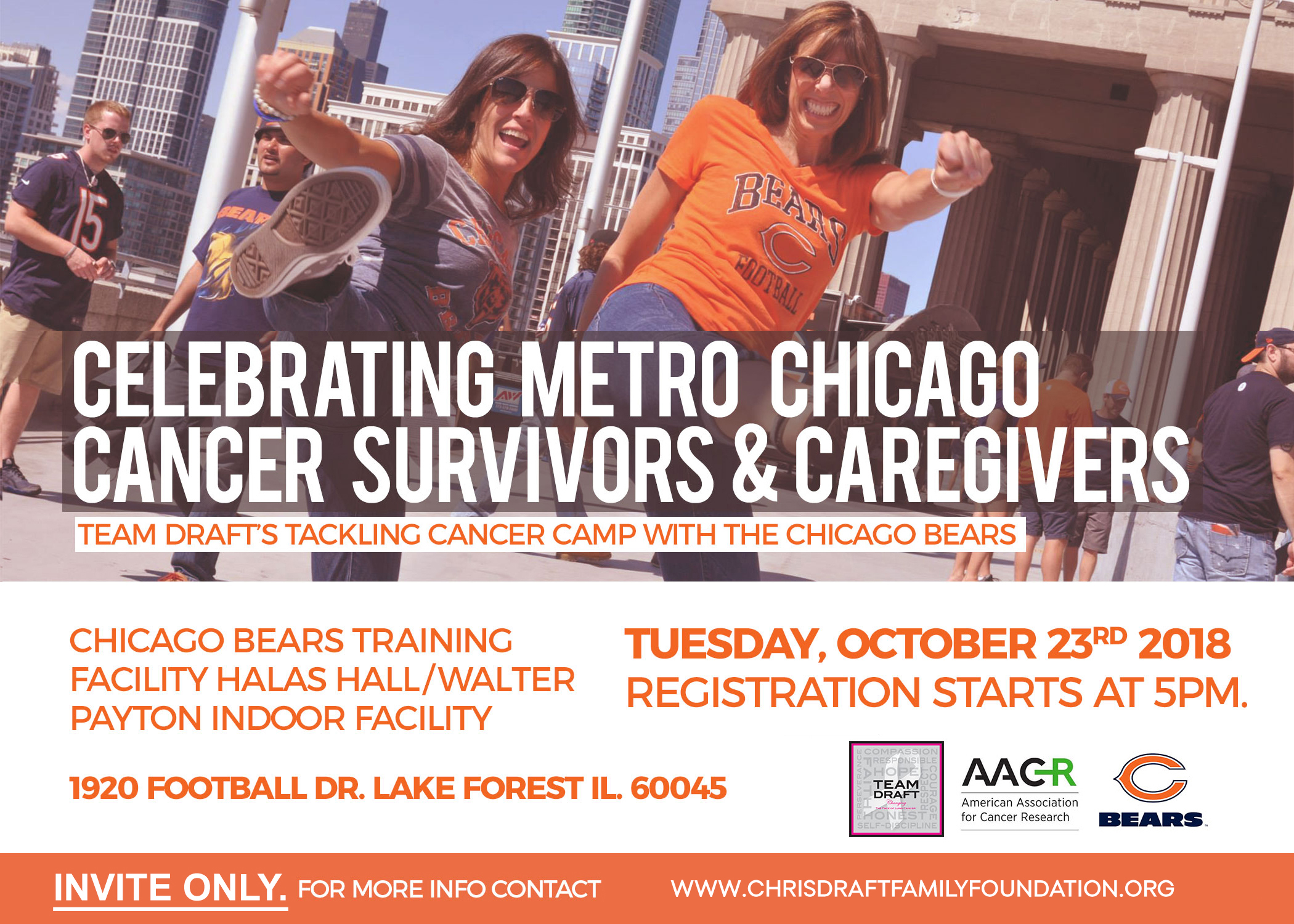 Tackling Cancer Camp with the Chicago Bears