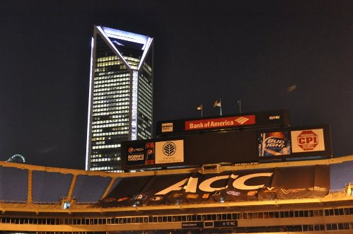 Duke Energy Building Shines WHITE for Lung Cancer Awareness