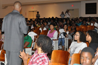 "A Discussion and a Movie - ""The Blind Side"" at Benjamin Banneker High School, Washington D.C."