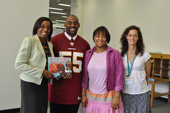 Book Donation at Deanwood Library in Washington D.C.