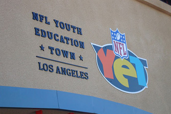 Family Fitness Blitz at the NFL Youth Education Town in Los Angeles